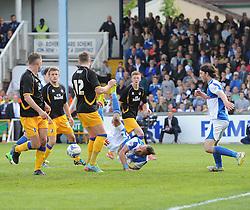 Bristol Rovers' Kaid Mohamed attempts an over head kick - Photo mandatory by-line: Joe Meredith/JMP - Mobile: 07966 386802 03/05/2014 - SPORT - FOOTBALL - Bristol - Memorial Stadium - Bristol Rovers v Mansfield - Sky Bet League Two
