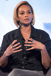 © Licensed to London News Pictures. 18/04/2016. Alesha Dixon gives a talk on celebrity talent at Advertising Week Europe 2016. London, UK. Photo credit: Ray Tang/LNP