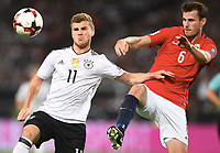 v.l. Timo Werner (Deutschland), Håvard Nordtveit<br /> Stuttgart, 04.09.2017, Fussball, WM-Qualifikation,<br /> Tyskland - Norge <br /> <br /> Norway only
