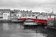 The beautiful scenery and buildings of Whitby in North Yorkshire, England Whitby Harbour.