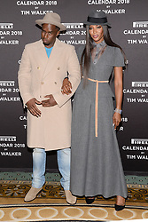 "(L-R) Sean ""Diddy"" Combs and model Naomi Campbell pose during the photocell for The Pirelli 2018 Calendar by Tim Walker Launch Press Conference at the Pierre Hotel in New York, NY, on November 10, 2017. (Photo by Anthony Behar/Sipa USA)"