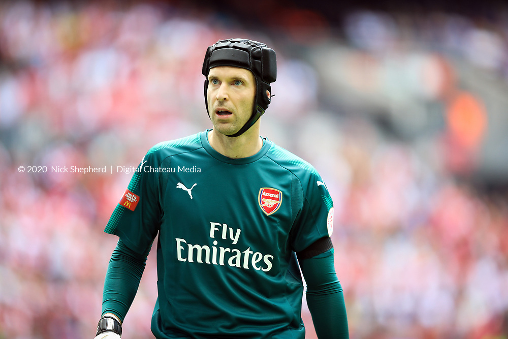 Petr Cech, goalkeeper - Arsenal FC v Chelsea FC - Wembley Stadium, 06 August 2017 - EDITORIAL USE ONLY
