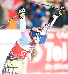 12.03.2010, Kandahar Strecke Damen, Garmisch Partenkirchen, GER, FIS Worldcup Alpin Ski, Garmisch, Lady SuperG, im Bild Jubel bei der Gewinnerin des Gesamtweltcup und des Riesenslalom und SuperG Weltcup 2009 2010 Vonn Lindsey, ( USA ), Ski Head, EXPA Pictures © 2010, PhotoCredit: EXPA/ J. Groder / SPORTIDA PHOTO AGENCY