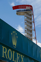 October 21, 2018 - Austin, TX, U.S. - AUSTIN, TX - OCTOBER 21: COTA tower and Rolex signage during the F1 United States Grand Prix on October 21, 2018, at Circuit of the Americas in Austin, TX. (Photo by John Crouch/Icon Sportswire) (Credit Image: © John Crouch/Icon SMI via ZUMA Press)
