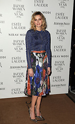 Laura Carmichael arrives at Claridge's Hotel in London to attend the Harper's Bazaar Women of the Year Awards.