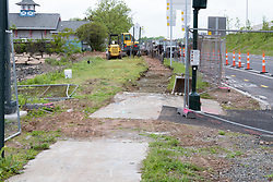 Boathouse at Canal Dock Phase II | State Project #92-570/92-674 Construction Progress Photo Documentation No. 11 on 23 May 2017. Image No. 06 Sidewalk Work
