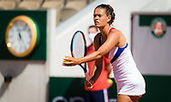 Chloe Paquet of France in action during the third round of doubles at the Roland-Garros 2021, Grand Slam tennis tournament on June 6, 2021 at Roland-Garros stadium in Paris, France - Photo Rob Prange / Spain ProSportsImages / DPPI / ProSportsImages / DPPI