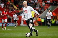 Will Hughes of Derby County making an attacking run. Skybet football league championship match, Charlton Athletic v Derby County at The Valley  in London on Saturday 16th April 2016.<br /> pic by Steffan Bowen, Andrew Orchard sports photography.