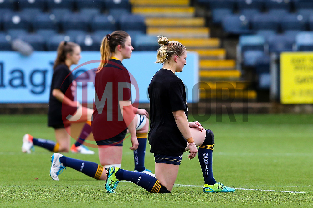 A period of silence is observed before kick off - Mandatory by-line: Nick Browning/JMP - 24/10/2020 - RUGBY - Sixways Stadium - Worcester, England - Worcester Warriors Women v Wasps FC Ladies - Allianz Premier 15s