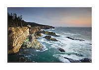 Rugged headlands of Shore Acres State Park on the Oregon Coast