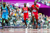 LONDON OLYMPIC GAMES 2012 - OLYMPIC STADIUM , LONDON (ENG) - 04/08/2012 - PHOTO : VINCENT CURUTCHET / KMSP / DPPI<br /> ATHLETICS - 100M - HEAT - JUSTIN GATLIN (USA)
