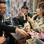 Nai Nai, a 23-year-old live-streamer in Shanghai, China, plays boardgames with her male fans. Nai Nai's fans are mostly Chinese men between 15 and 30 years old who post messages and virtual gifts, visible to everyone logged on to her chatroom. China's livestreaming industry reached 425 million subscribers in 2018 out of a current total internet user base of more than 829 million, according to government statistics cited in Chinese state media. Livestream hosting is an increasingly popular career choice, especially for young Chinese women like Nai Nai.