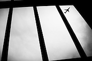 """a plane seen through a grille.<br /> The shadow line is a trip, a trip losing myself, looking for myself.<br /> Like the romance """"the shadow line"""" by Joseph Conrad (1917).<br /> I was in Italy, England, Bosnia, Montenegro, Serbia..<br /> It isn't a reportage, it isn't a story.<br /> It is a searching.."""