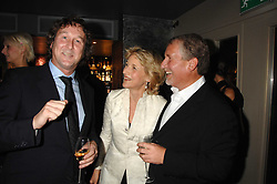 Left to right, TRISTRAN DAVIES, FIONA SHAKLETON and SIMON KELNER at a party to celebrate the publication of  'The Return of the Sloane Ranger' held at Kitt's, Sloane Square, London on 15th October 2007.<br /><br />NON EXCLUSIVE - WORLD RIGHTS