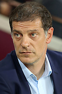 Slaven Bilic, West Ham United manager looks on from the dugout . EFL Cup, 3rd round match, West Ham Utd v Accrington Stanley at the London Stadium, Queen Elizabeth Olympic Park in London on Wednesday 21st September 2016.<br /> pic by John Patrick Fletcher, Andrew Orchard sports photography.
