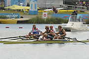Eton Dorney, Windsor, Great Britain,<br /> <br /> 2012 London Olympic Regatta, Dorney Lake. Eton Rowing Centre, Berkshire.  Dorney Lake.   <br /> <br /> Final, Men's Pair GBR M2- Bow George NASH and Will SATCH and NZL M2-, Bow Eric MURRAY and Hamish BOND<br /> <br />  11:56:48  {DOW]  {DATE}    [Mandatory Credit: Peter Spurrier/Intersport Images]