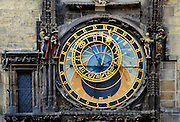 Prague Orloj, 16th Century Astronomical Clock, on the Old Town Hall in Old Town Square, Prague, Czech Republic