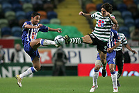 """LISBOA 21 MARCH 2005: # and # in the 26 leg of the Super Liga, season 2004/2005, match  Sporting CP (2) vs FC Porto (0), held in """"Alvalade XXI"""" stadium,  21/03/2005  20:40:35<br /> (PHOTO BY: NUNO ALEGRIA/AFCD)<br /> <br /> PORTUGAL OUT, PARTNER COUNTRY ONLY, ARCHIVE OUT, EDITORIAL USE ONLY, CREDIT LINE IS MANDATORY AFCD-PHOTO AGENCY 2004 © ALL RIGHTS RESERVED"""