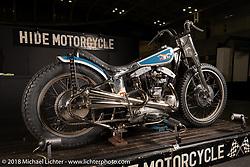Hide Motorcycles' Hideya Hide Togashi's latest custom, a 1966 Harley-Davidson XLCH Sportster at the 27th Annual Mooneyes Yokohama Hot Rod Custom Show 2018. Yokohama, Japan. Saturday, December 1, 2018. Photography ©2018 Michael Lichter.