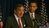 Leon Panetta at a press briefing where President elect Obama announced that Panetta was his choice to be the Director of the Central Intelligence Agency on January 9, 2009. photo by Dennis Brack