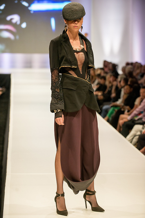 Fashion designer Eduardo Lucero's collection during the opening night of the 10th anniversary of Fashion Week El Paseo in Palm Desert, California. Photos by Tiffany L. Clark