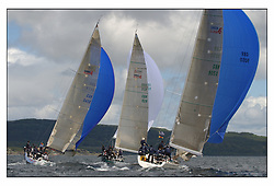 The third days racing at the Bell Lawrie Yachting Series in Tarbert Loch Fyne ..Perfect conditions finally arrived for competitors on the three race courses...Swan 45.GBR9050 Piper at the Gates , Charles Swingland RSY.GBR945R Fever, Gordon / Diderichs , RORC.GBR92R Murka 2 , Mikhail Mouratov RSYC..