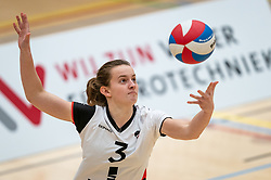 Kim Klein Lankhorst of Apollo 8 in action during the first league match between Laudame Financials VCN vs. Apollo 8 on February 06, 2021 in Capelle aan de IJssel.