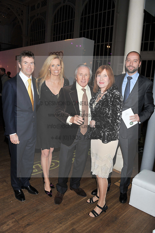 Left to right, PAUL & VICTORIA STEWART, SIR JACKIE & LADY STEWART and GERARD LOPEZ the Chairman of the Lotus Formula One team at the Motor Sport magazine's 2013 Hall of Fame awards at The Royal Opera House, London on 25th February 2013.