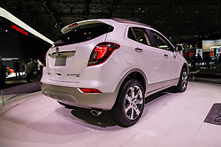 NEW YORK, USA - MARCH 23, 2016: Buick Encore on display during the New York International Auto Show at the Jacob Javits Center.