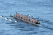 London, United Kingdom. Exeter University BC.   A Crew, Barnes Rail Bridge, 2014 Women's Head of the River Race. Chiswick to Putney, River Thames.  Saturday  15/03/2014    [Mandatory Credit; Peter Spurrier/Intersport-images]