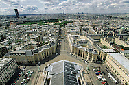France. Paris. elevated view. , La Place du Pantheon et la tour Eiffel. vue du Pantheon (ancienne abatiale Sainte Genevieve)