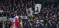 Football - 2017 / 2018 UEFA Champions League - Round of Sixteen, Second Leg: Manchester City (4) vs. FC Basel (0)<br /> <br /> FC Basel fans at The Etihad.<br /> <br /> COLORSPORT