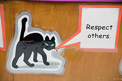 Respect others' notice in school classroom,