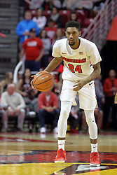 09 December 2017:  Jerron Martin works past half court during a College mens basketball game between the Murray State Racers and Illinois State Redbirds in  Redbird Arena, Normal IL