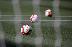 March 30, 2019 - Barcelona, Catalonia, Spain - the ball of the Liga Santander during the match between FC Barcelona and RCD Espanyol, corresponding to the week 29 of the Liga Santander, played at the Camp Nou Stadium, on 30th March 2019, in Barcelona, Spain. (Credit Image: © Joan Valls/NurPhoto via ZUMA Press)