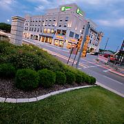 New building construction near 39th and Rainbow Boulevard across from KU Medical Center, Kansas City, Kansas.