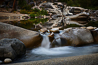 Merced River Meditation. Image taken with a Nikon D3 camera and 24-70 mm f/2.8 lens (ISO 200, 58 mm, f/16, 1.6 sec). Camera mounted on a tripod.