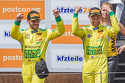09.06.2019, Red Bull Ring, Spielberg, AUT, ADAC GT Masters Spielberg, Rennen, im Bild 2. Platz Maximilian Goetz (GER)/Indy Dontje (NLD) Mercedes AMG GT3 // 2nd placed German ADAC GT Masters driver Maximilian Goetz/Dutch ADAC GT Masters driver Indy Indy Dontje Mercedes AMG GT3 during the Race for the ADAC GT Masters at the Red Bull Ring in Spielberg, Austria on 2019/06/09. EXPA Pictures © 2019, PhotoCredit: EXPA/ Dominik Angerer