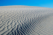 Pattern of ripples in sand dunes<br /> Great Sand Hills<br /> Saskatchewan<br /> Canada