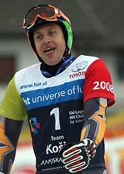 "Jure Kosir after the second run of ""Ski Legends HIT Challenge by Jure Kosir"" event in Kranjska Gora, Slovenia, on February 2, 2008. (Photo by Vid Ponikvar / Sportal Images)."