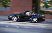 Image of a black 1986 Porsche 959 in Bellevue, Washington, Pacific Northwest by Randy Wells. This is the last 959 to leave the factory.