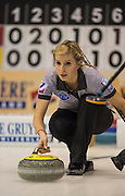 """Glasgow. SCOTLAND.  Russian, Galina ARSENKINA during the """"Hack"""",  """"Round Robin"""" Games. Le Gruyère European Curling Championships. 2016 Venue, Braehead  Scotland<br /> Monday  21/11/2016<br /> <br /> [Mandatory Credit; Peter Spurrier/Intersport-images]"""