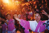 "Japan, Kanazawa, 1999. Old and young alike celebrate Hyakumangoku, marking one million ""goku"" of rice produced in the northern Honshu area."