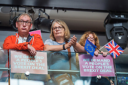 © Licensed to London News Pictures. 11/08/2018. Bristol, UK. People's Vote rally at the Colston Hall in Bristol calling for a people's vote on the Brexit deal. Speakers at the rally included Leader of the Liberal Democrats Sir Vince Cable, Totnes Conservative MP Sarah Wollaston and Labour MP Stephen Doughty. The Bristol rally is the first in a series of rallies across the UK. Photo credit: Simon Chapman/LNP