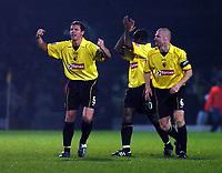 Fotball<br /> Carling cup England 2004/05<br /> Watford v Portsmouth<br /> 30. november 2004<br /> Foto: Digitalsport<br /> NORWAY ONLY<br /> NEIL COX & SEAN DYCHE CELEBRATE WATFORDS WIN