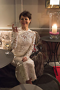 HELEN MCCRORY, Nicky Haslam hosts dinner at  Gigi's for Leslie Caron. 22 Woodstock St. London. W1C 2AR. 25 March 2015