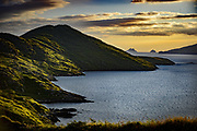 The Skellig Rocks as seen from Hoggs Head, Waterville in County Kerry, Ireland.<br /> Photo: Don MacMonagle