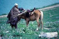 Pakistan, Khyber Pakhtunkhwa, vallee de Kaghan, lac Saif Muluk, cavalier // Saïful Muluk lake, Kaghan valley, Khyber Pakhtunkhwa, Pakistan