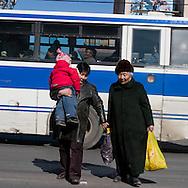 Mongolia. Ulaanbaatar. in the street in winter   ULAN BAATAR -     /  scenes de rue en hiver  OULAN BATOR - Mongolie   /  L0009897