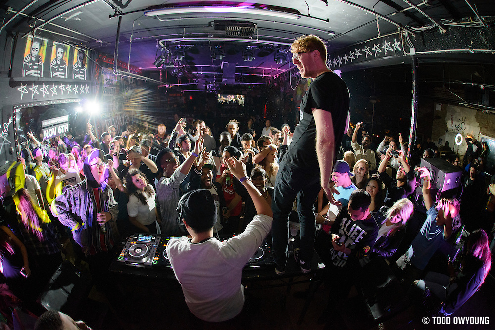 """Baauer performing at The Hills as part of the after party for the advance screening of the documentary film """"Baauer: Searching for Sound"""" on November 4, 2014."""